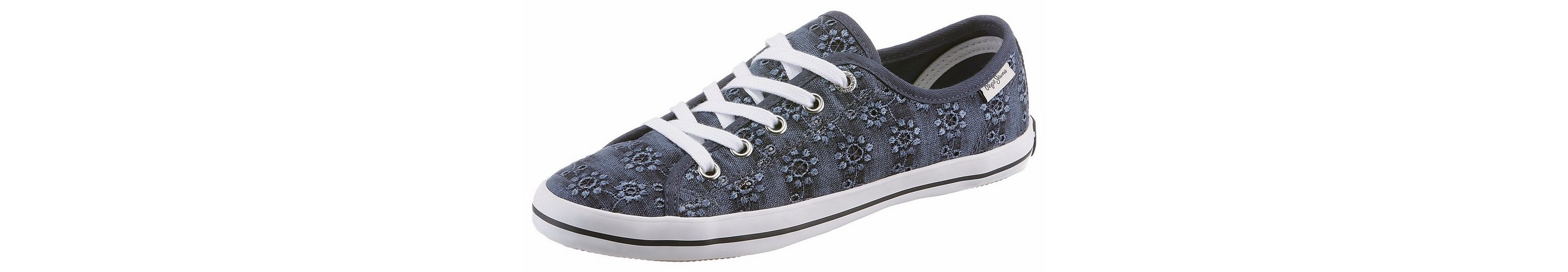Pepe Jeans GERY ANGLAISE Sneaker, mit Blütenstickerei