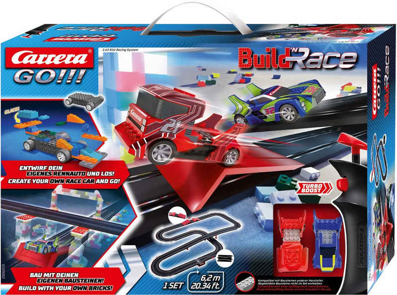 Carrera® Autorennbahn »Carrera GO!!! - Build 'n Race - Racing Set 6.2« (Streckenlänge 6,2 Meter)