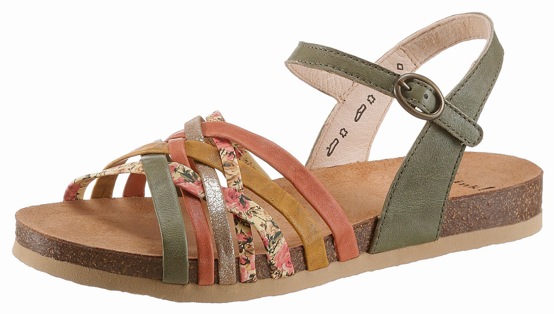Think! Sandale, in schöner Farbkombi online kaufen  olivgrün-bunt
