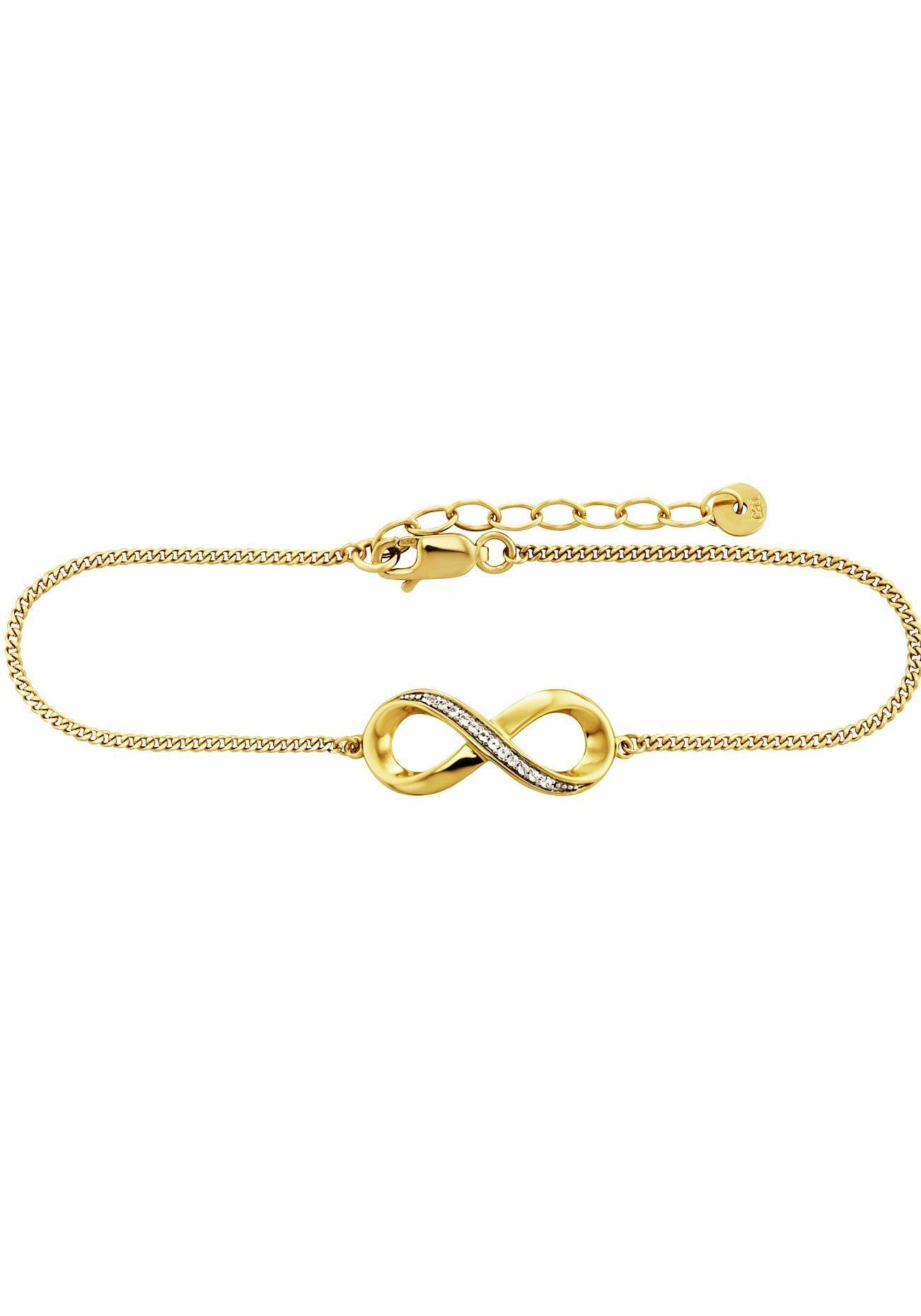 CAÏ Armband »Infinity, Unendlichkeitsschleife, sensitive dancer, C1814B/90/93/20« mit Topas