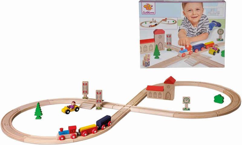 Eichhorn Spielzeug-Eisenbahn »Achterbahn, 35-tlg.«, (Set, 35-tlg), aus Holz; Made in Europe, FSC®-Holz aus gewissenhaft bewirtschafteten Wäldern