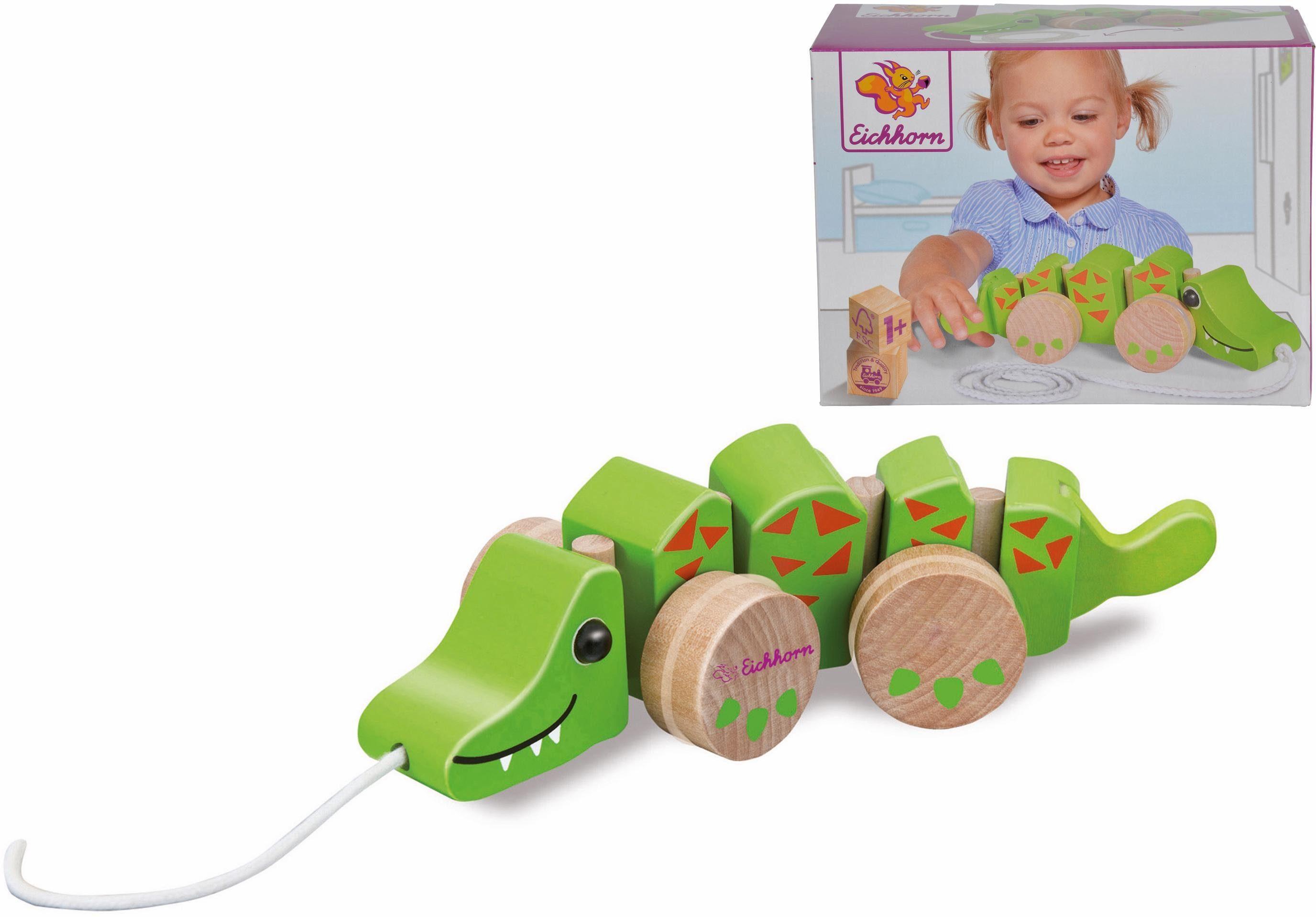 Eichhorn Nachziehspielzeug aus Holz, »Krokodil«