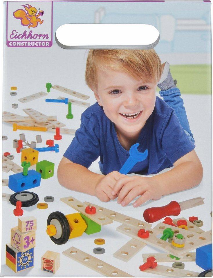 Eichhorn Konstruktionsspielzeug aus Holz,  Constructor, Tuning Set, 75-tlg.  online kaufen