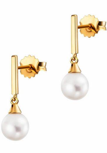 CAÏ Perlenohrringe »pure white, C1816E/90/46/«, mit Süßwasserzuchtperlen