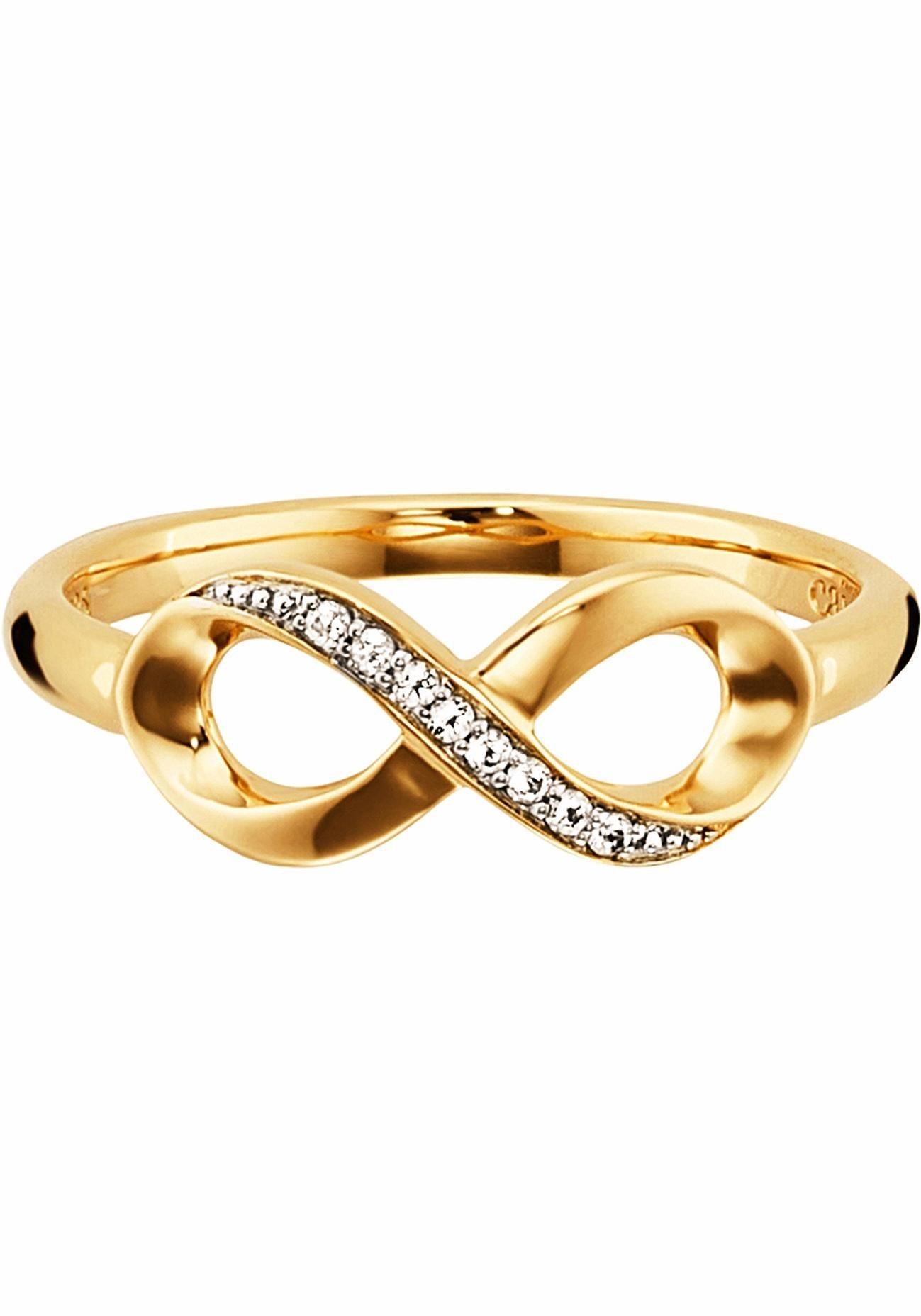CAÏ Fingerring »Infinity, Unendlichkeitsschleife, sensitive dancer, C1814R/90/93/«, mit Topas | Schmuck > Ringe > Fingerringe | Silber | CAÏ