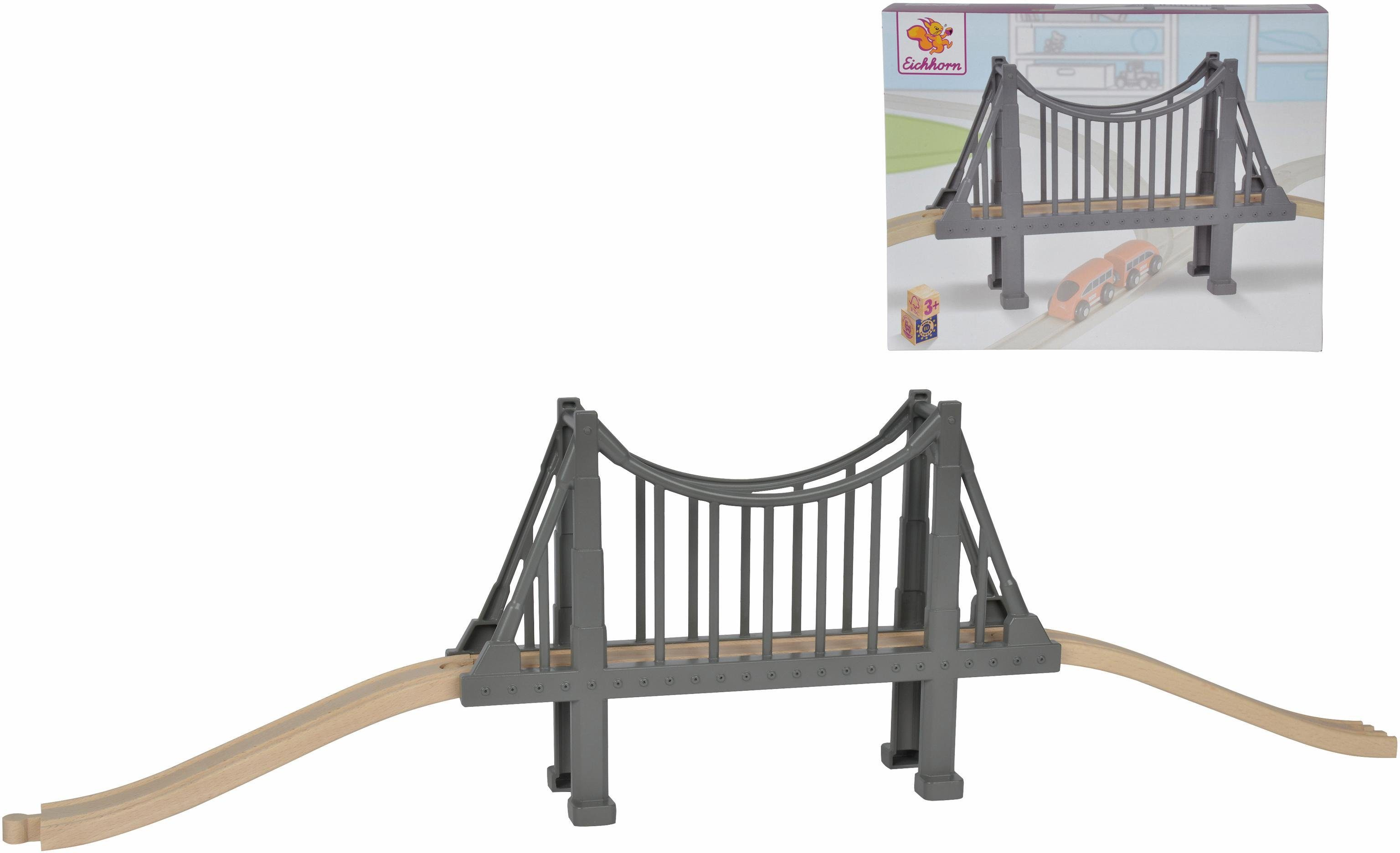 Eichhorn Schienenbahnset aus Holz, »Hängebrücke, 3-tlg.«
