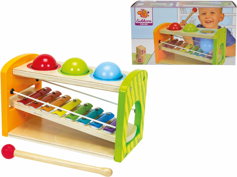 Eichhorn Holzspielzeug, »Color, Xylophon Klopfbank«