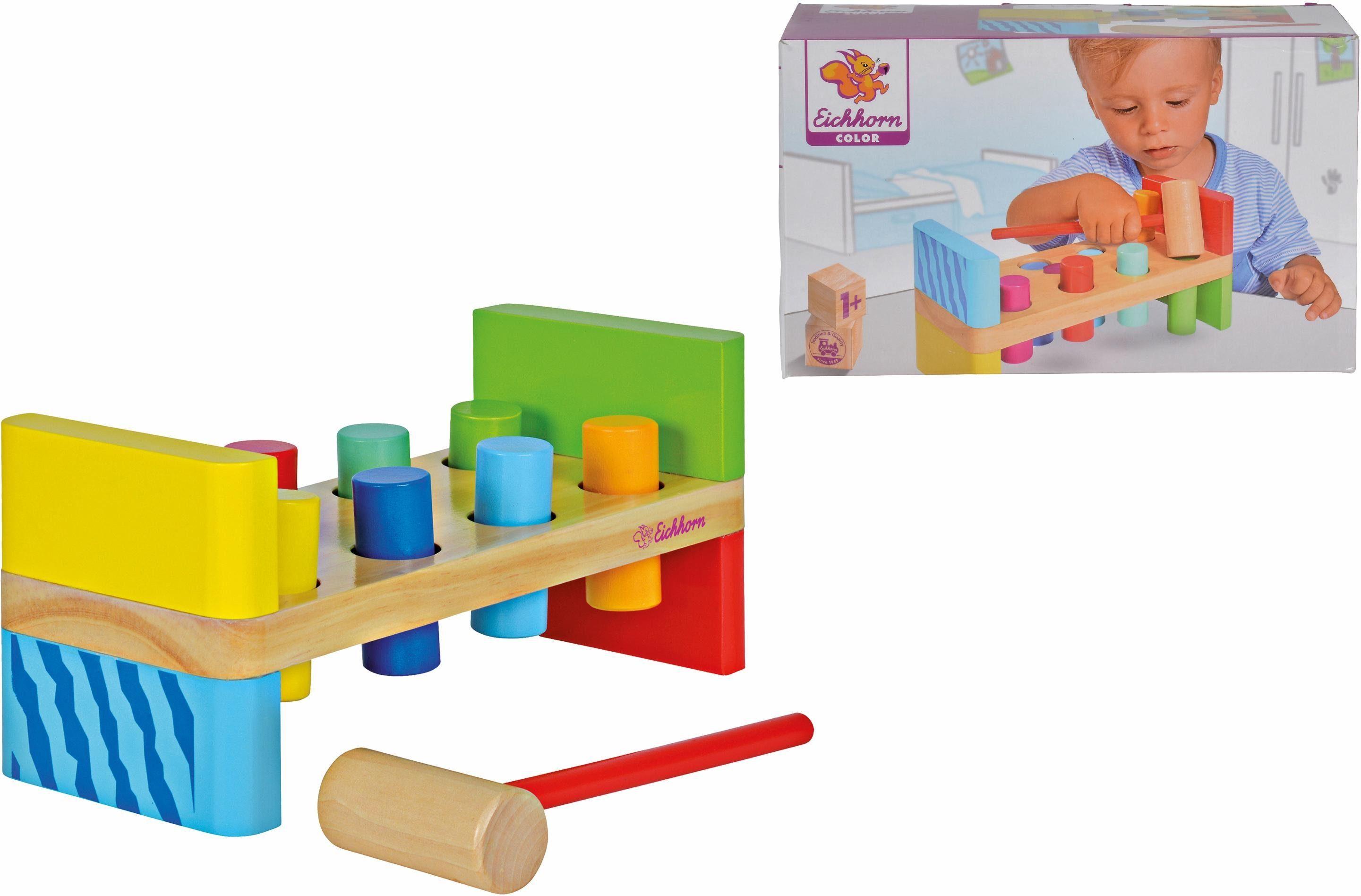 Eichhorn Holzspielzeug, »Color, Klopfbank«
