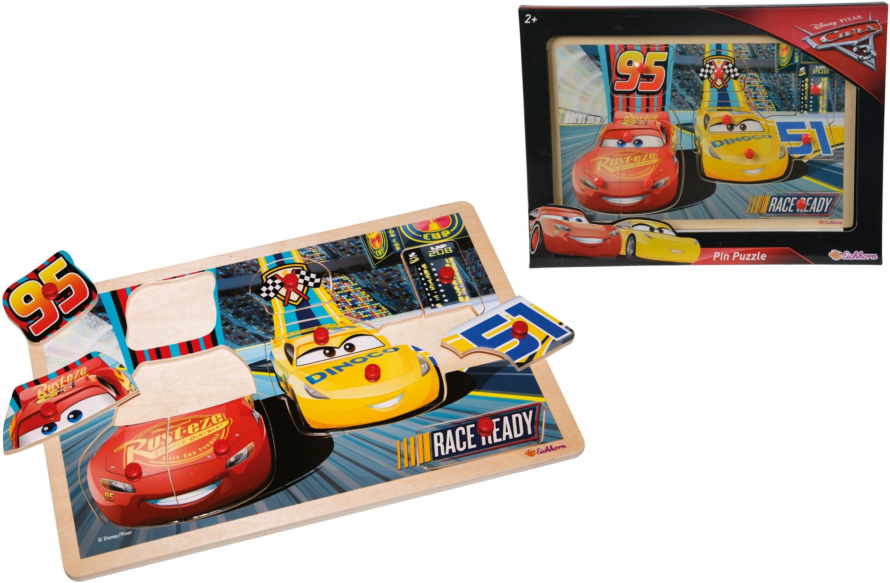 Eichhorn Puzzle aus Holz, »Disney Pixar Cars 3 Steckpuzzle«