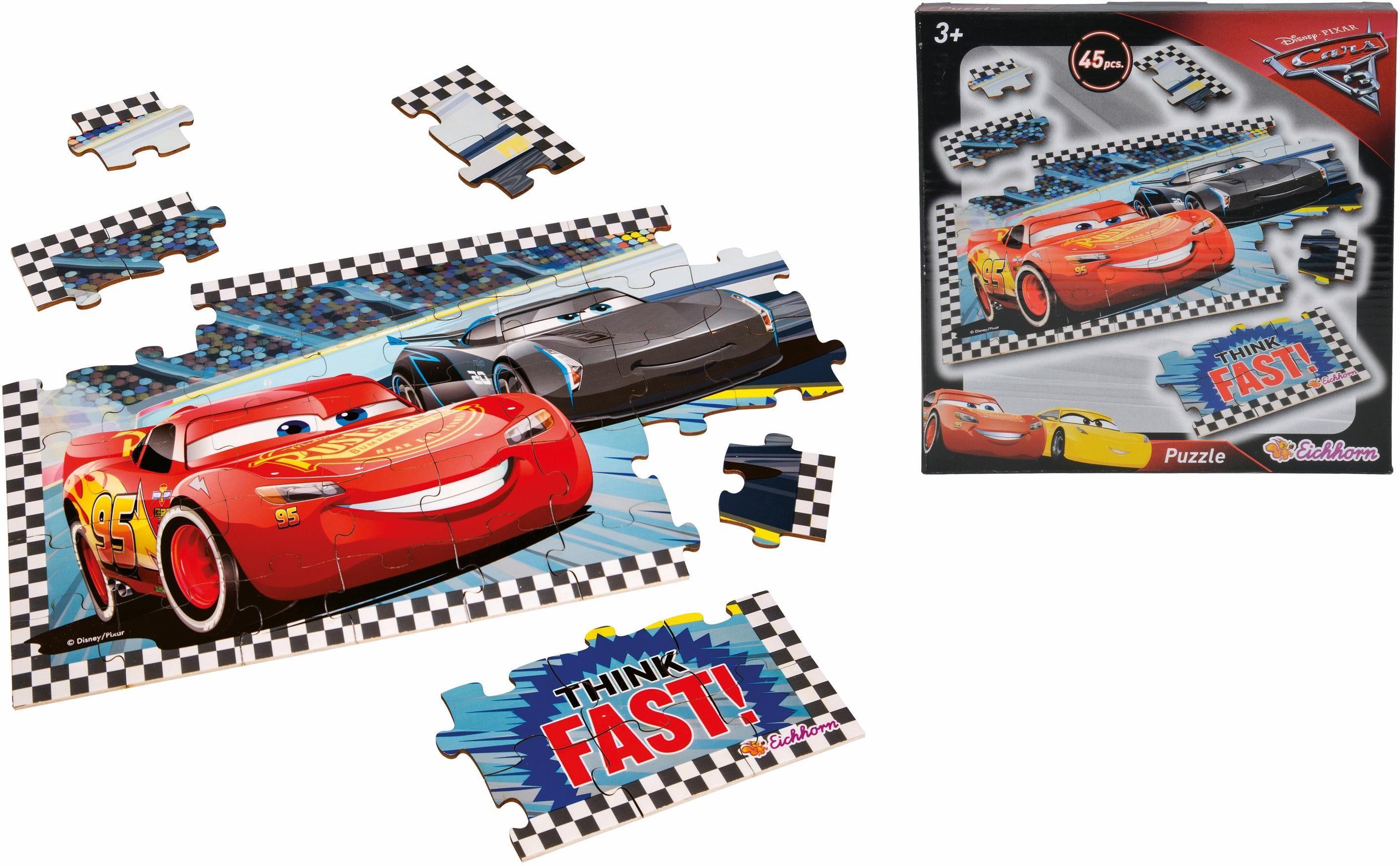 Eichhorn Puzzle aus Holz, »Disney Pixar Cars 3 Formpuzzle«