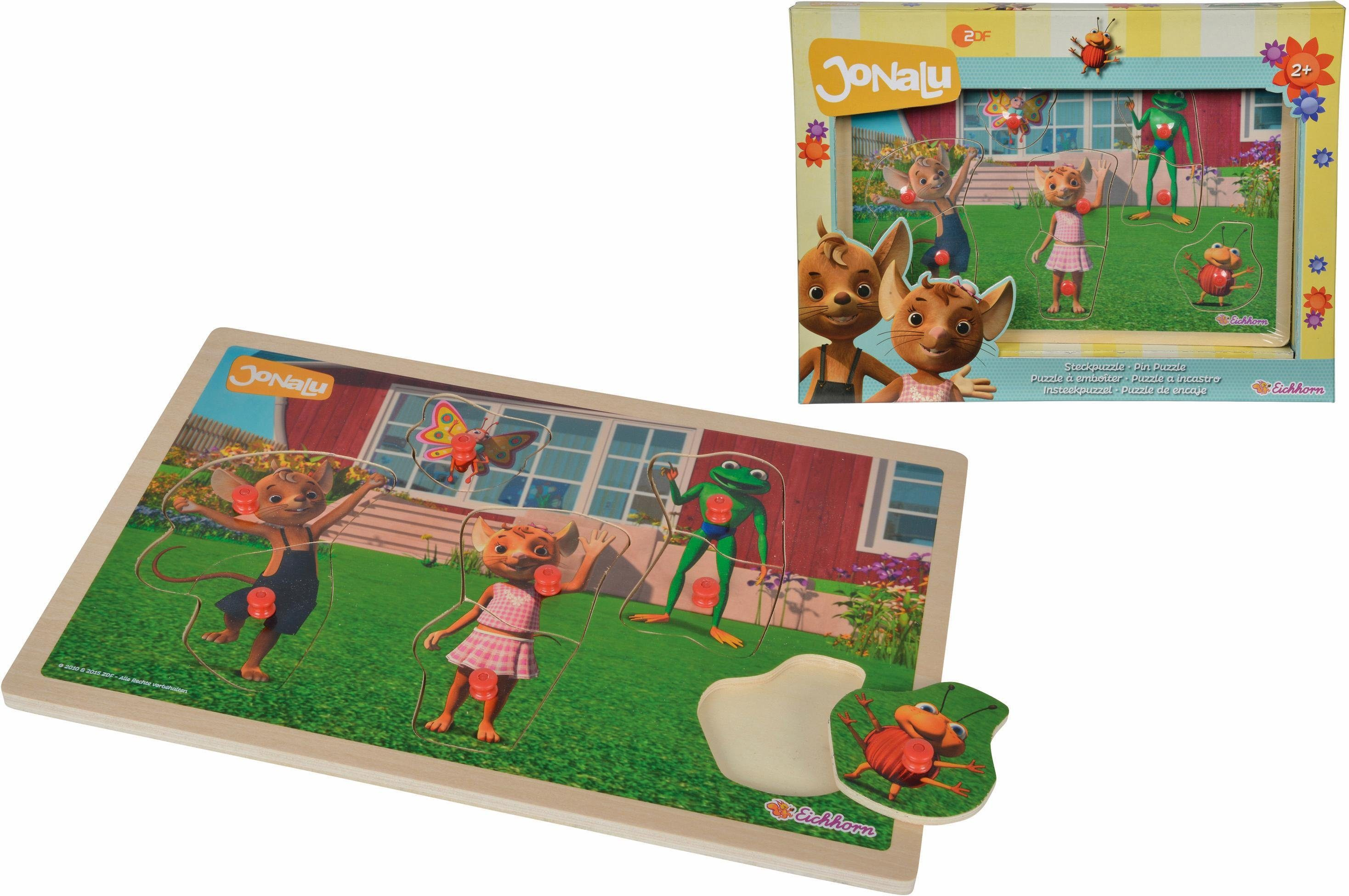 Eichhorn Holzspielzeug, »JoNaLu Steckpuzzle«