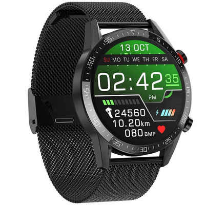 cofi1453 Sportuhr »cofi1453® Smartwatch SportUhr mit Blutdruckmessung, Schrittzähler Tracker Smart Watch mit Pulsuhr für Damen und Herren«