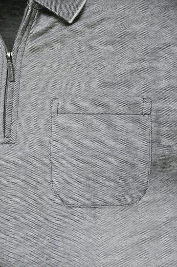 NAVIGAZIONE Poloshirt, kombinierstarkes Basic Langarm-Poloshirt, pflegeleichte Qualität
