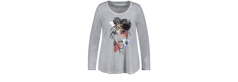 Kaufen Preiswerte Qualität Samoon T-Shirt Langarm Rundhals Ausgestelltes Shirt mit Front-Print Original-Verkauf Online Online Billigsten Auslass Browse Billig UkwLArE9