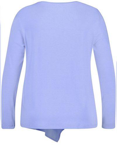 Samoon T-Shirt Langarm Rundhals Blusenshirt mit Volant