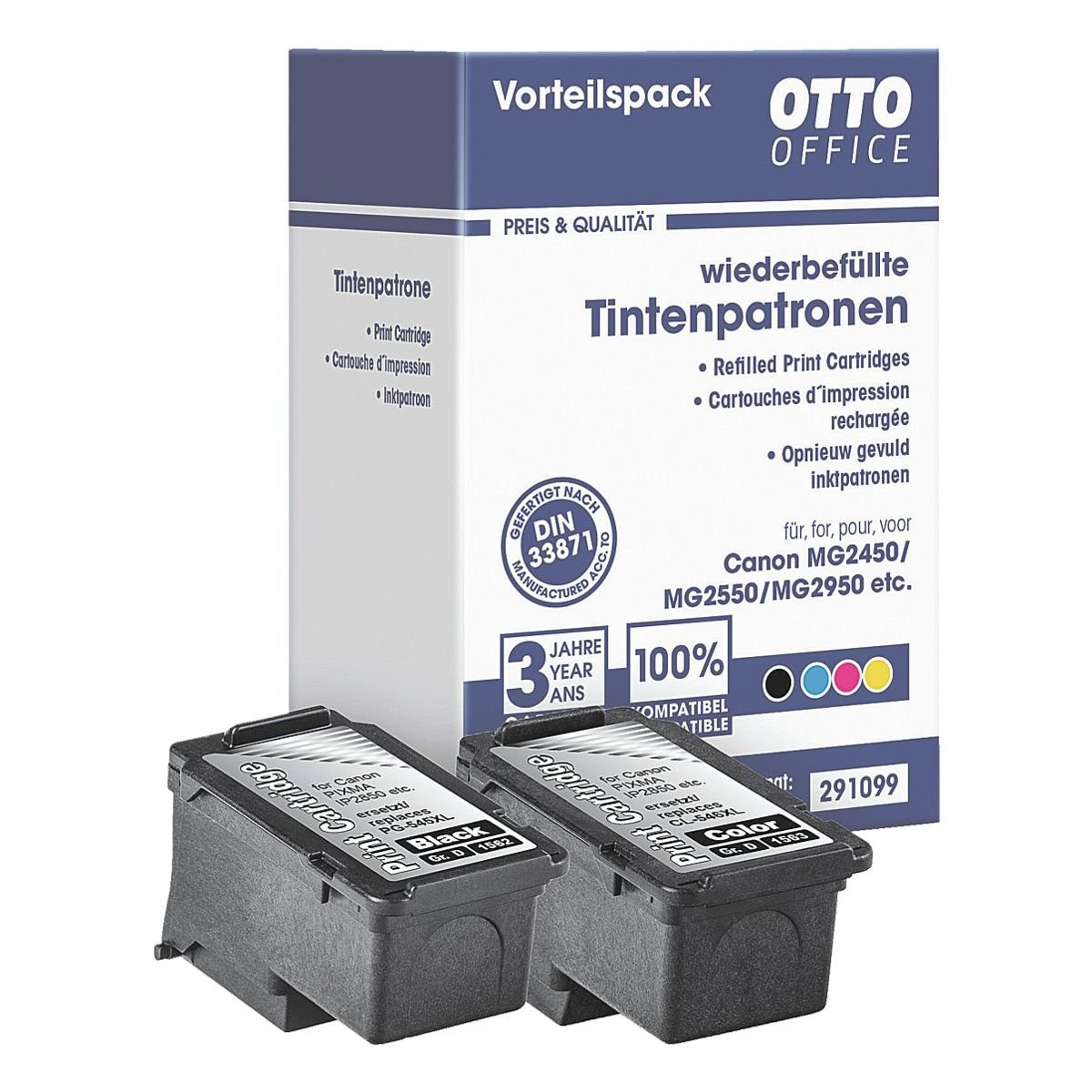 OTTOOFFICE STANDARD Tintenpatronen-Set ersetzt Canon »PG-545XL / CL-546XL«