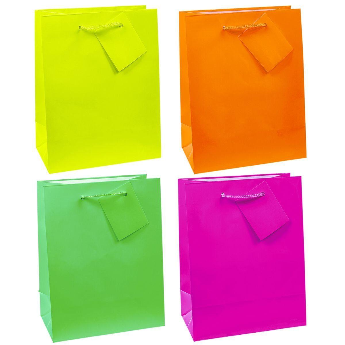 TSI 12 Geschenktaschen »Neon-Serie«