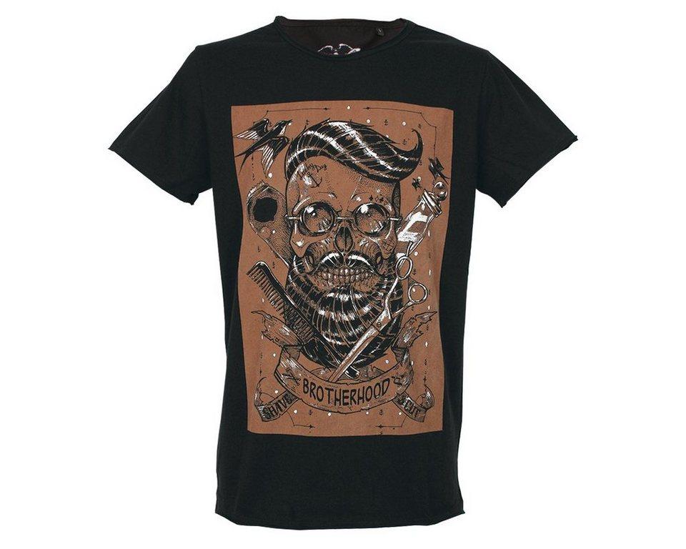 brotherhood t shirt mit totenkopf print kaufen otto. Black Bedroom Furniture Sets. Home Design Ideas