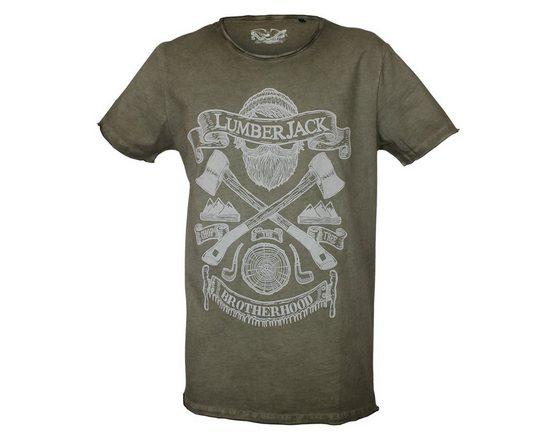 Brotherhood Quality T-shirt With Lumberjack-motif