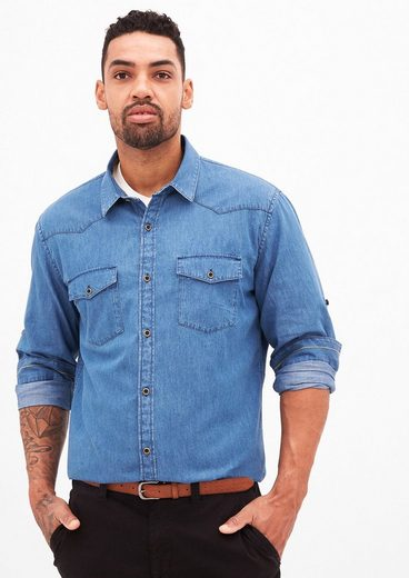 s.Oliver RED LABEL Regular: Hemd in Jeans-Optik