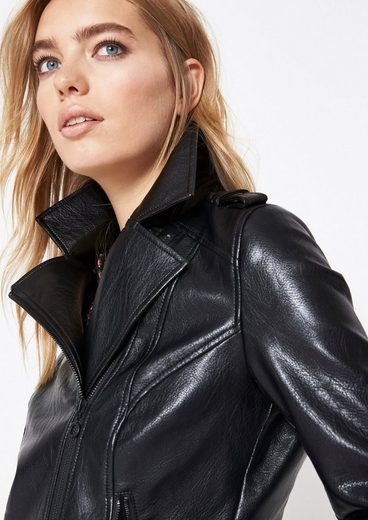 Comma Jacket Made Of Faux Leather Biker Look In