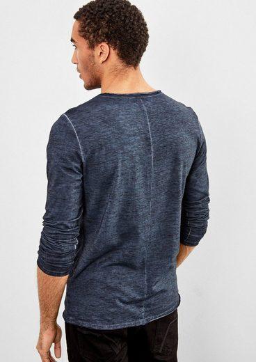 Q/S designed by Henley-Shirt mit Farbeffekt