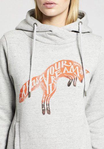 khujo Kapuzensweatshirt GRETA WITH PRINT, mit haptischem Print auf der Front