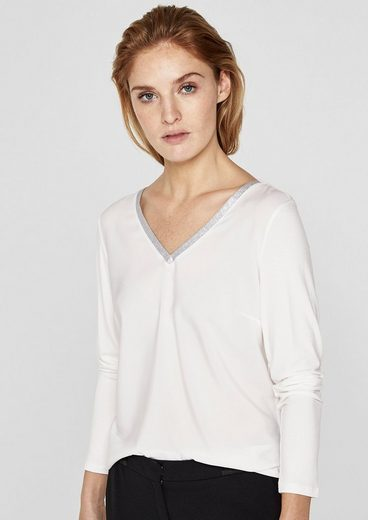 S.oliver Black Label Blouses Shirt In Materialmix