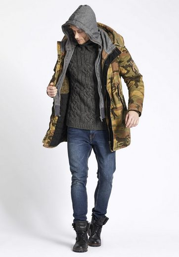 khujo Military-Jacket JOHN WITH INNER JACKET, mit herausnehmbarem Einsatz