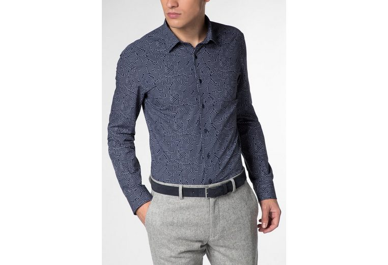 ETERNA Langarm Hemd SLIM FIT Popeline bedruckt Auslass Neue Ankunft Billig Verkauf Websites Großhandel 3zz4H
