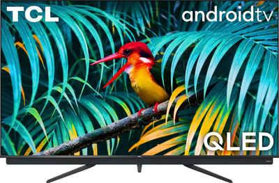 TCL 65C815X1 QLED-Fernseher (164 cm/65 Zoll, 4K Ultra HD, Smart-TV, integrierter ONKYO Soundbar, Android TV Sprachfernbedienung)