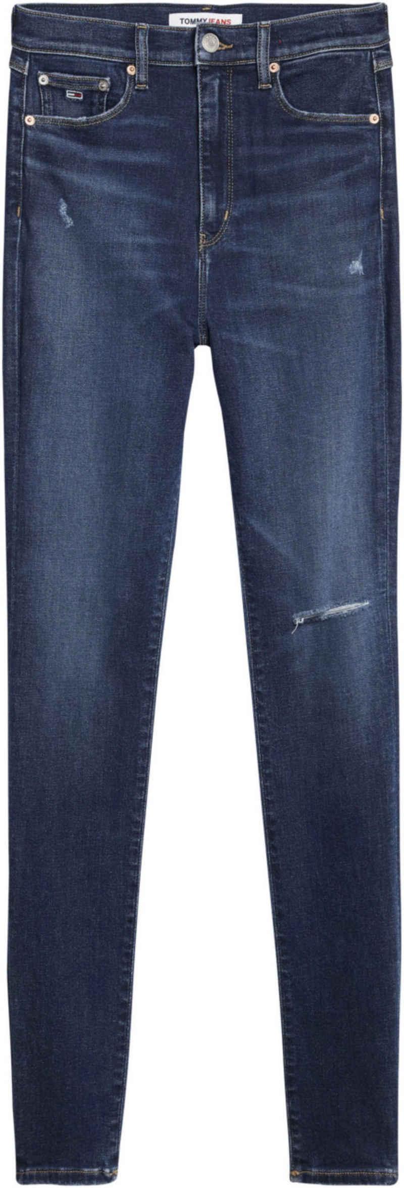 Tommy Jeans Skinny-fit-Jeans »MELANY UHR SPR SKNY BE654 DBSTD« mit Knee-cut & Tommy Jeans Logo-Badge