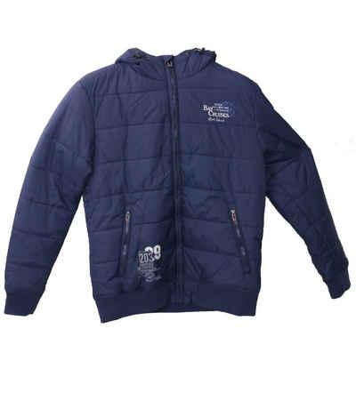 Rhode Island Steppjacke »Rhode Island Winter-Jacke funktionelle Herren Stepp-Jacke mit leichter Wattierung Puffer-Jacke Blau«