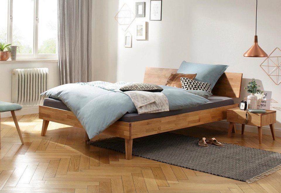 18c70a15f3 Home affaire Bett »Natali«, aus massiver Eiche, in verschiedenen Breiten