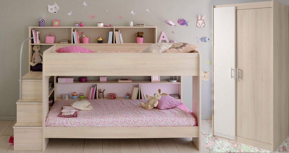 parisot kinderzimmer set bibop 2 tlg set aus schrank und etagenbett online kaufen otto. Black Bedroom Furniture Sets. Home Design Ideas