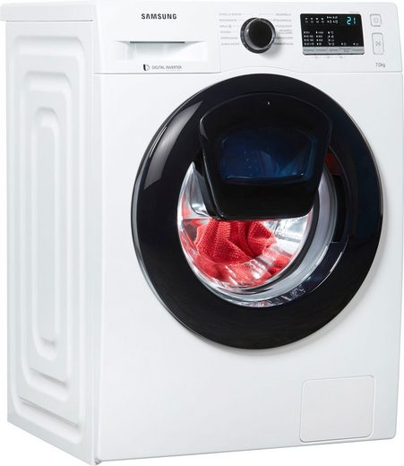 Samsung Waschmaschine AddWash W4500 WW7EK44205W, 7 kg, 1400 U/Min, AddWash