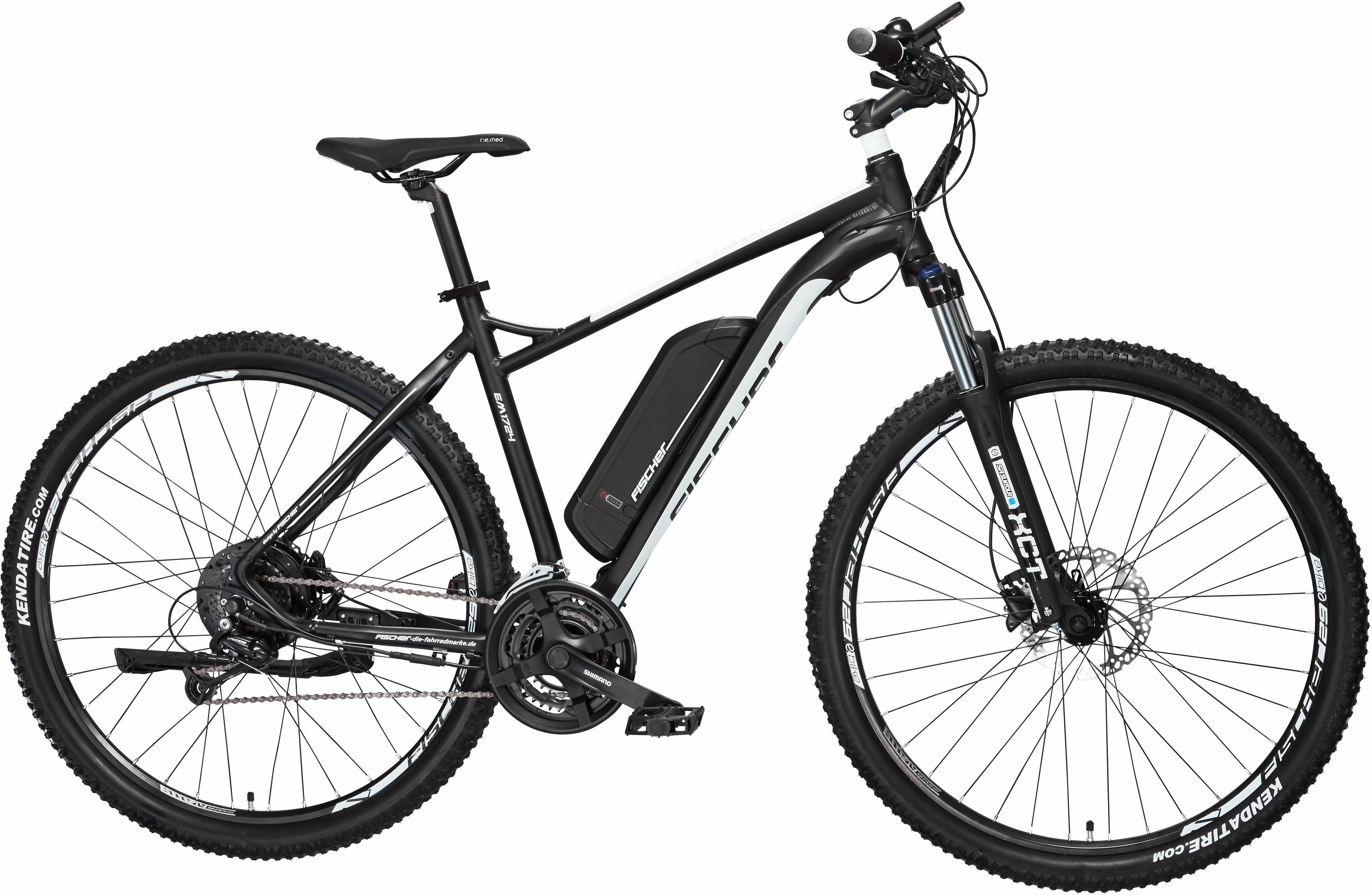 FISCHER MTB E-Bike, 48V/250W Hinterradmotor, 29 Zoll, 24 Gang-Shimano Deore Kettenschaltung, »EM 1724«