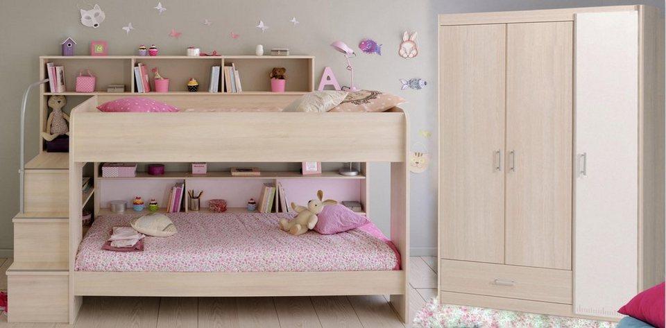 parisot kinderzimmer set bibop 2 tlg wahlweise mit und ohne bettschubkasten online kaufen. Black Bedroom Furniture Sets. Home Design Ideas