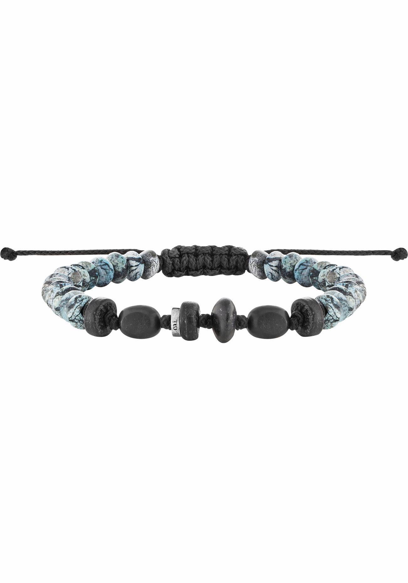 CAÏ Armband »nautic traveller, C4255B/90/00« mit Holz- und Marmorsteinen