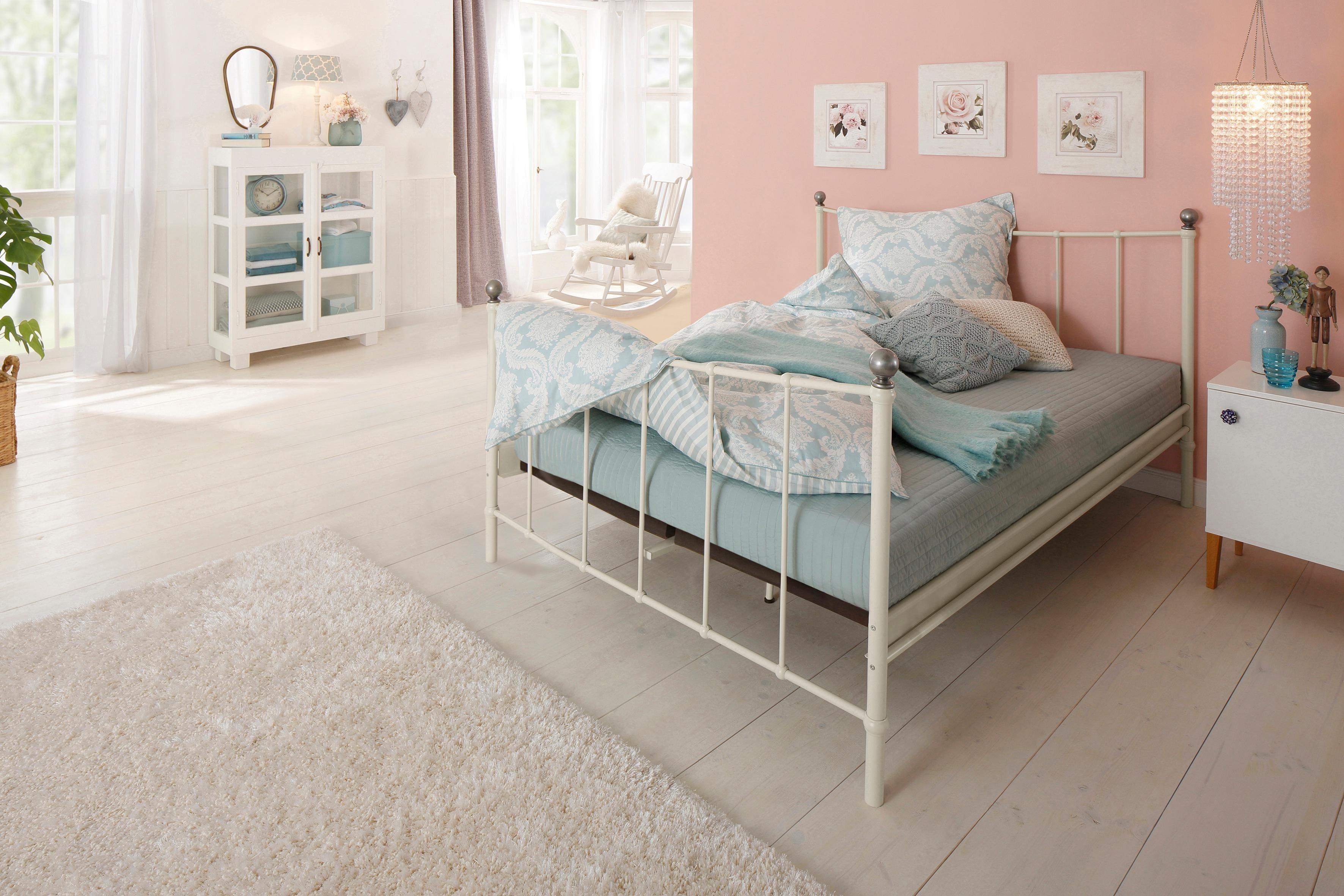 Home affaire Metallbett »Metha«, mit geschwungenen Kopf-und Fußteilen | Schlafzimmer > Betten > Metallbetten | Home affaire