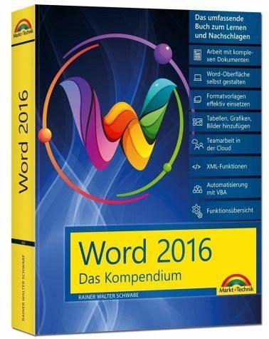 Broschiertes Buch »Word 2016 - Das Kompendium«