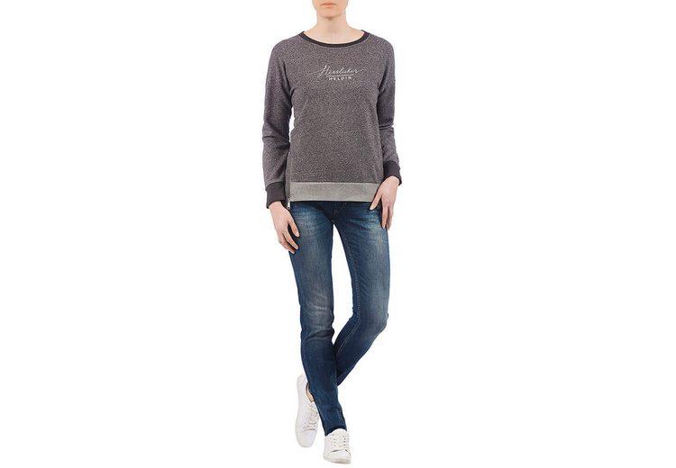 Großer Verkauf Verkauf Online Auslass Original HERRLICHER Sweat-Pullover in melierter Optik mit Markenprint Spielraum Billig Echt Rabatt Wahl W91ajElyL