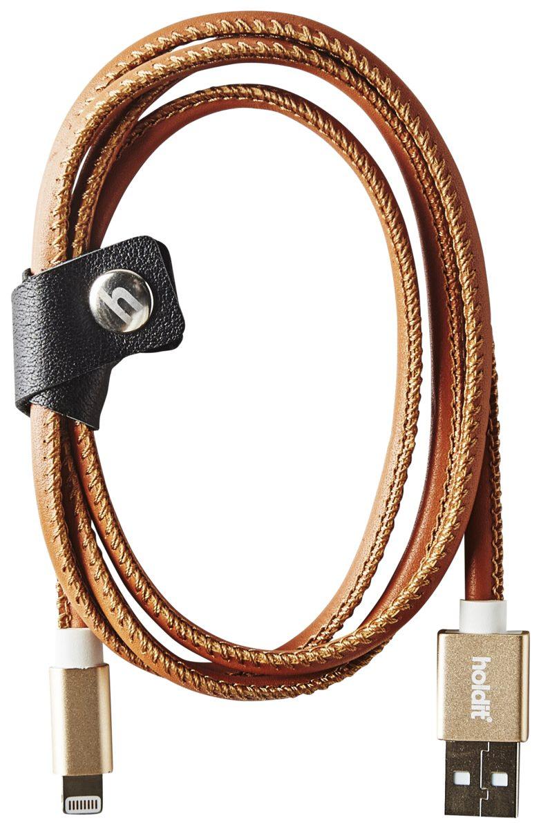 holdit Kabel »Selected USB Lightning 1,0 m Brown leather«