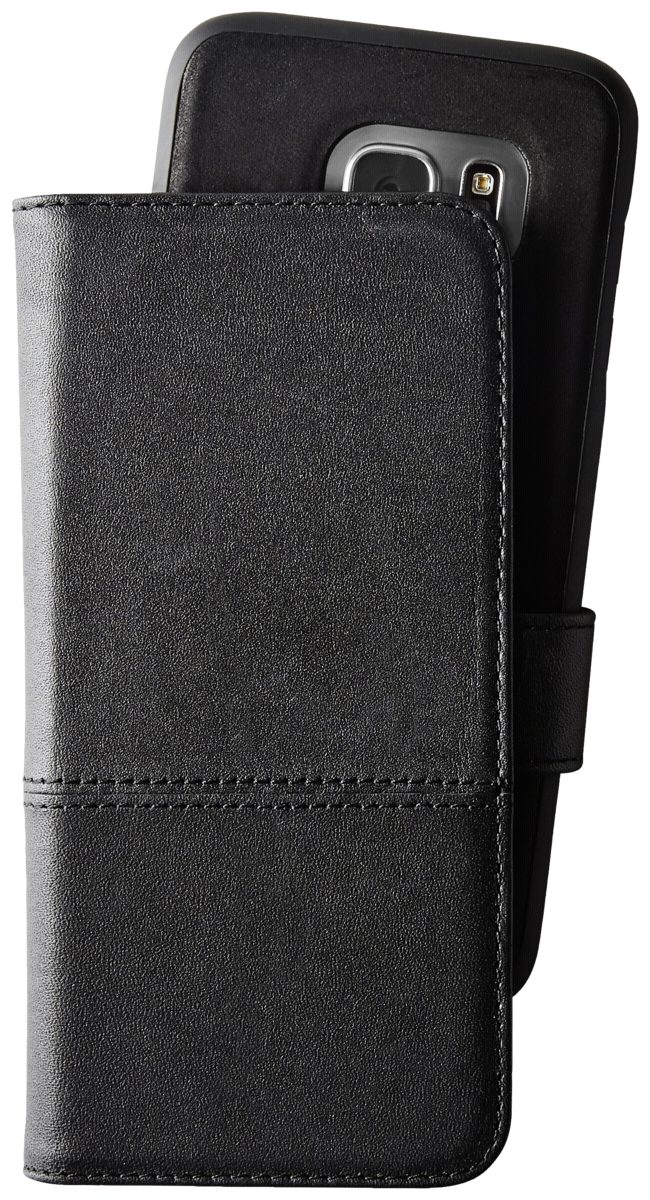 holdit Tasche »Selected Wallet magnet for Galaxy S7 Black leather«