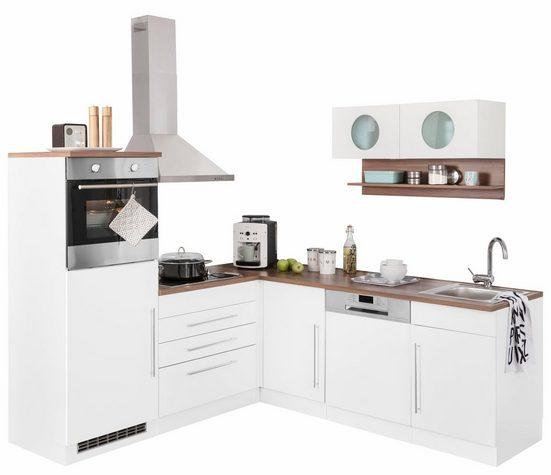 Winkelküche »Keitum«, mit E-Geräten, Stellbreite 200 x 220 cm