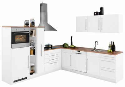 HELD MÖBEL Winkelküche Mit E Geräten »Samos«, Stellbreite 260/270 Cm