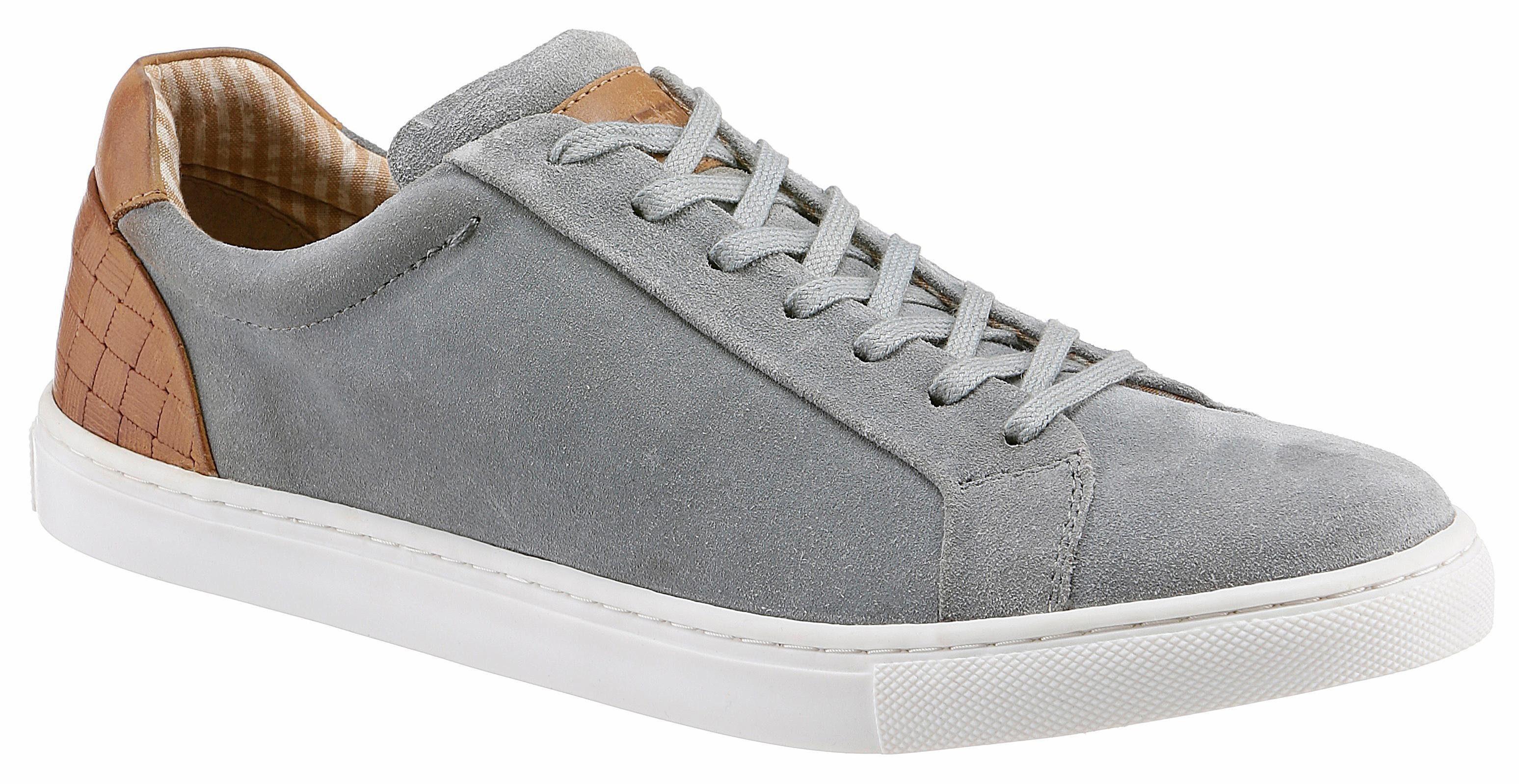 PETROLIO Sneaker, mit angesagter Flechtoptik  grau