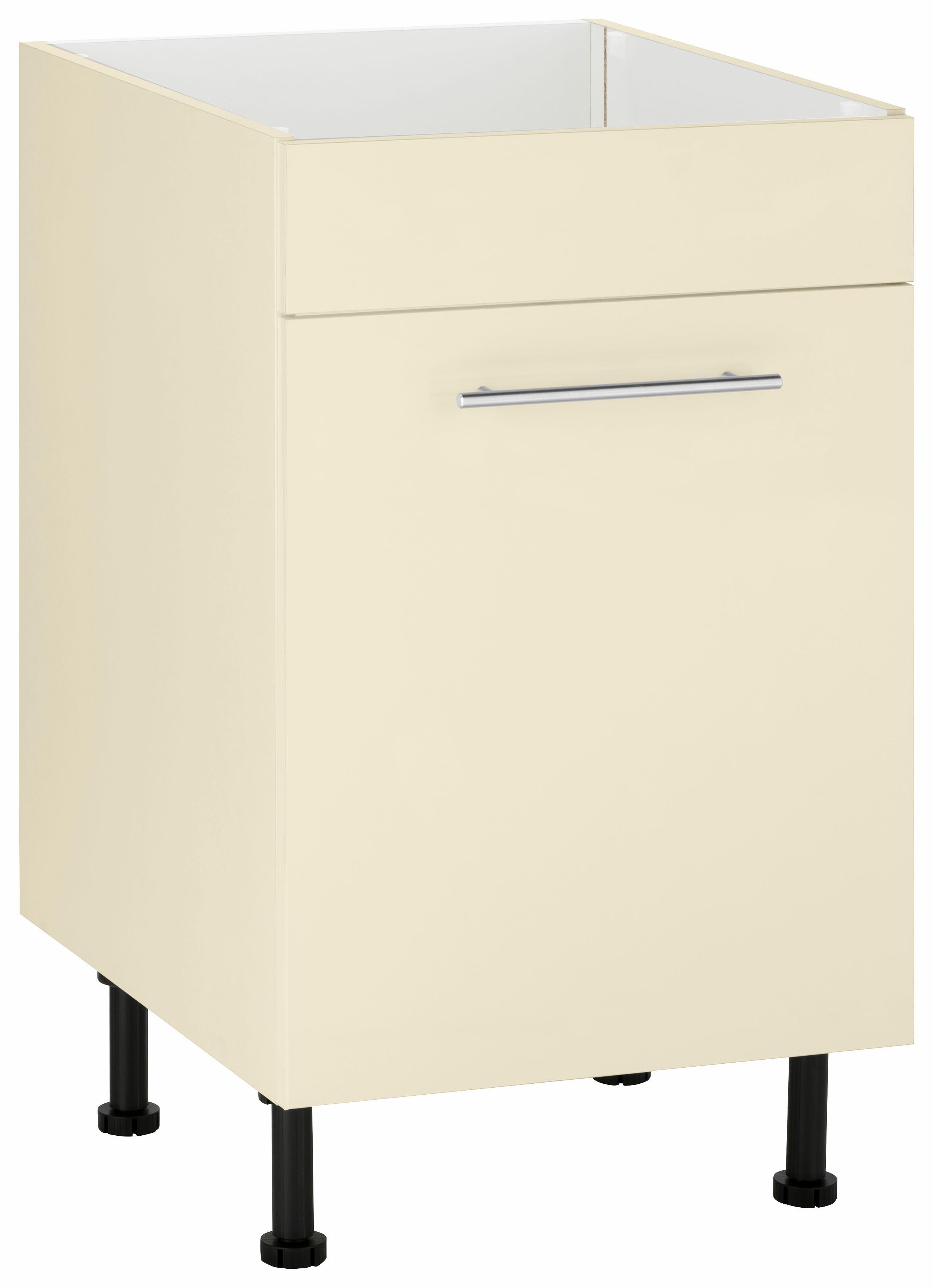 Wiho Küchen Spülenschrank »Ela«, Breite 50 cm | Küche und Esszimmer > Küchenschränke > Spülenschränke | Weiß - Glanz | Melamin | wiho Küchen