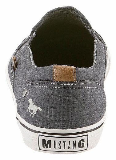 Mustang Shoes Slipper, im Denim-Look