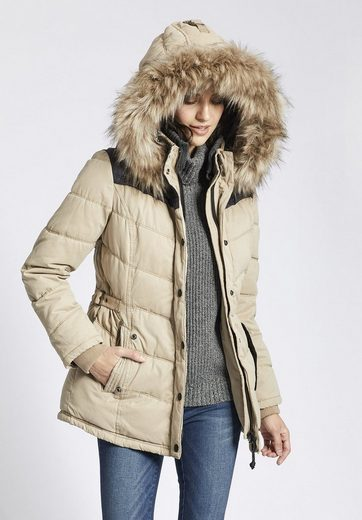 Khujo Steppjacke Winsen Ii With Rib Collar, With Removable Knitted Collar